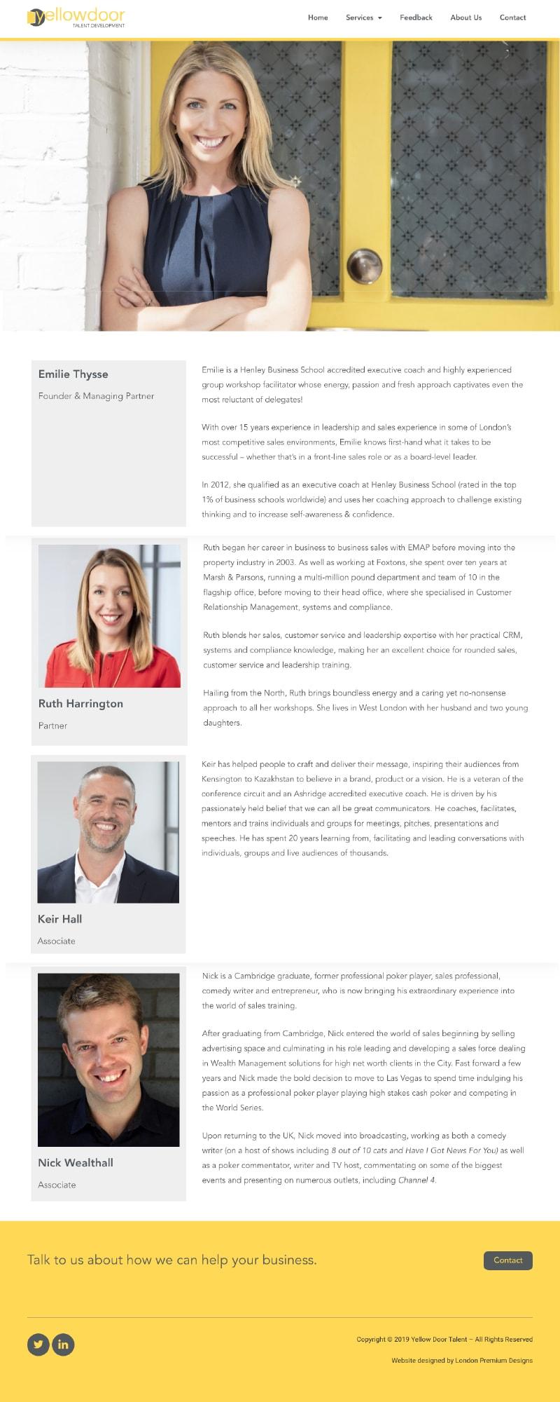 Yellowdoor case study team page